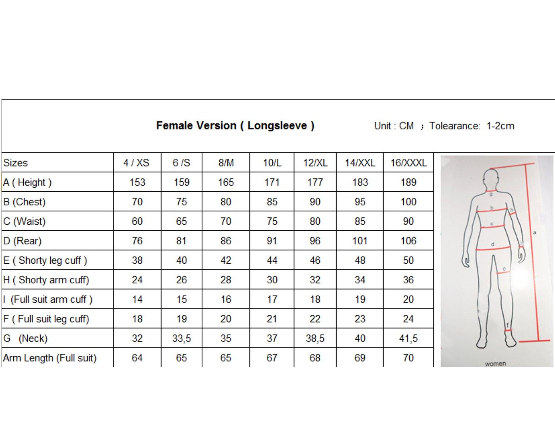 Size Chart Female