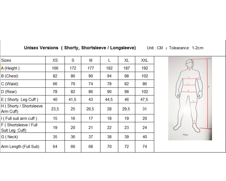 Size Chart Unisex