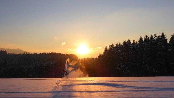 Heinar Brandstötter_Snowkiting_Sunset